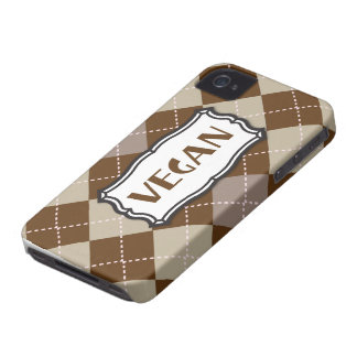 Vegan (Brown Argyle) Case-Mate iPhone 4 Case