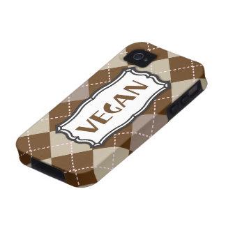 Vegan (Brown Argyle) Case-Mate iPhone 4 Covers