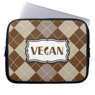 Vegan (Brown Argyle) Computer Sleeves