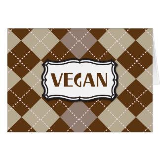 Vegan (Brown Argyle) Greeting Card