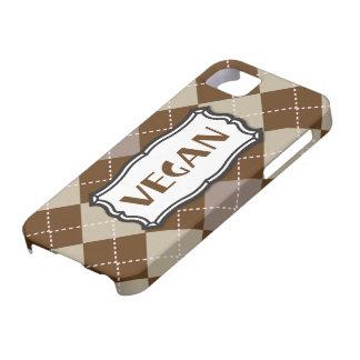 Vegan (Brown Argyle) iPhone 5 Cases