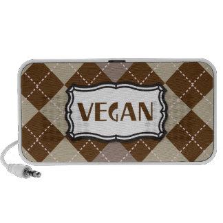 Vegan (Brown Argyle) Laptop Speaker