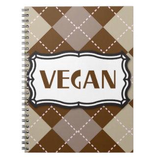 Vegan (Brown Argyle) Note Book
