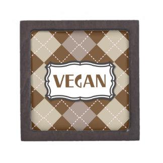 Vegan (Brown Argyle) Premium Jewelry Box
