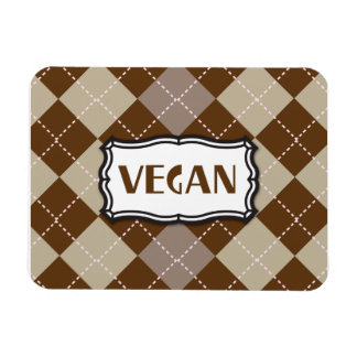 Vegan (Brown Argyle) Rectangular Photo Magnet
