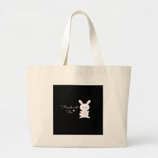 "Vegan Bunny ""Friends Not Fur"" Bag"