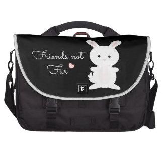 "Vegan Bunny ""Friends Not Fur"" Laptop Messenger Bag"