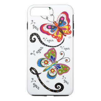 Vegan Butterfly Retro iPhone 7 Plus Case