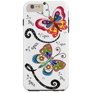 Vegan Butterfly Retro Tough iPhone 6 Plus Case