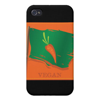 Vegan Carrot Flag Covers For iPhone 4