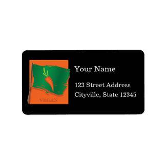 Vegan Carrot Flag Address Label