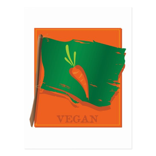 Vegan Carrot Flag Postcard