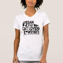 Vegan Cat Lover Humor T-Shirt