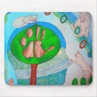 Vegan cat tree mouse pad