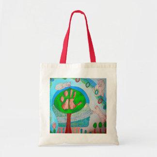 Vegan cat tree tote bag