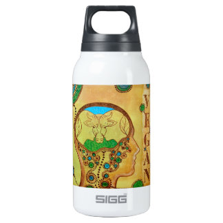 Vegan caw connection thermos water bottle