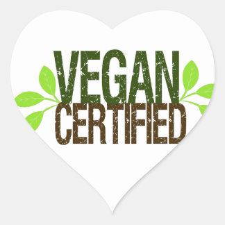Vegan Certified Heart Sticker