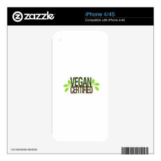 Vegan Certified Skin For iPhone 4S
