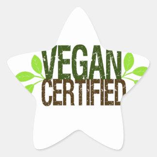 Vegan Certified Star Sticker