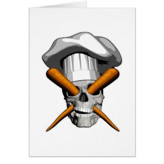 Vegan Chef Skull Card
