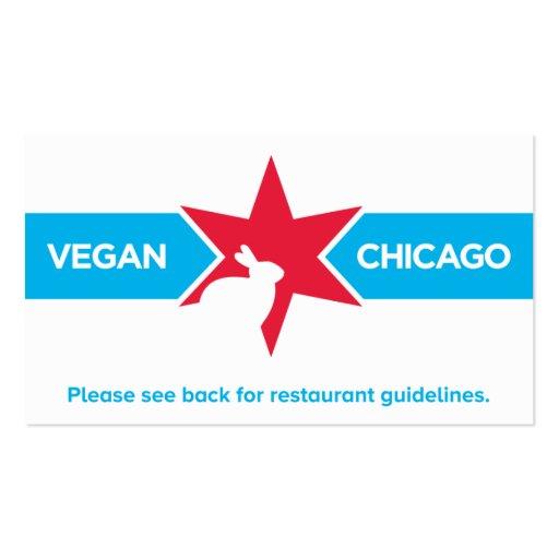 Vegan Chicago Restaurant Card Business Card Templates