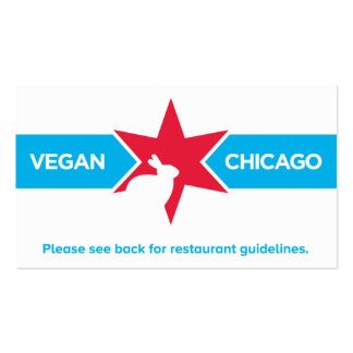 Vegan Chicago Restaurant Card Double-Sided Standard Business Cards (Pack Of 100)
