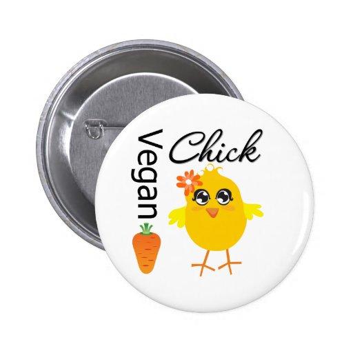 Vegan Chick 2 Pinback Button