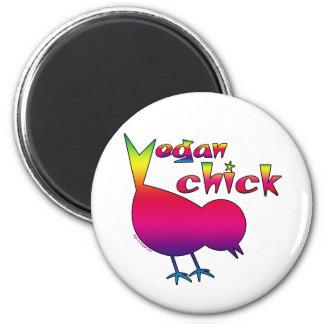 Vegan Chick 2 Inch Round Magnet