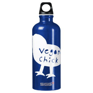 Vegan Chick Aluminum Water Bottle