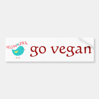 Vegan Chick Bumper Sticker