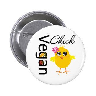 Vegan Chick Pins