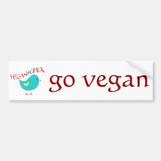 Vegan Chick Car Bumper Sticker