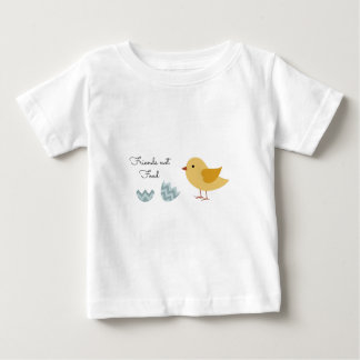 Vegan Chick Friends Not Food Baby T-Shirt