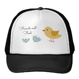 Vegan Chick Friends Not Food Mesh Hats