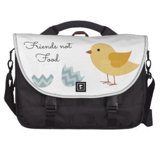 Vegan Chick Friends Not Food Laptop Messenger Bag