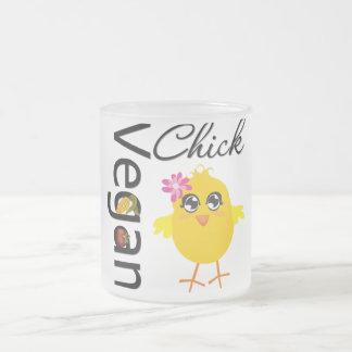 Vegan Chick Frosted Glass Coffee Mug