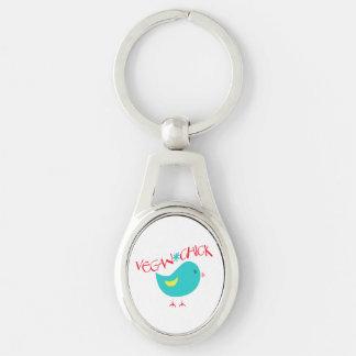 Vegan Chick Keychain