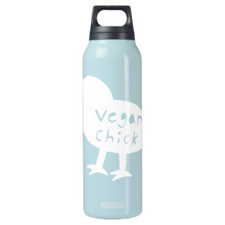 Vegan Chick 16 Oz Insulated SIGG Thermos Water Bottle