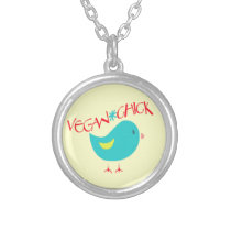 Vegan Chick Silver Plated Necklace