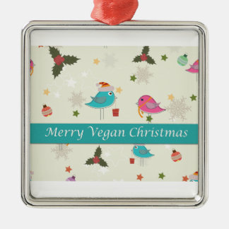 Vegan Christmas Gifts Metal Ornament
