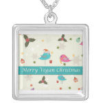 Vegan Christmas Gifts Square Pendant Necklace