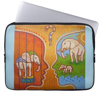 Vegan circus computer cover