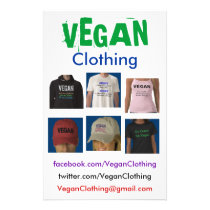 VEGAN Clothing Flyers
