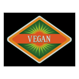 Vegan Colors Logo Poster