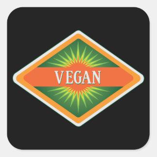 Vegan Colors Logo Square Sticker