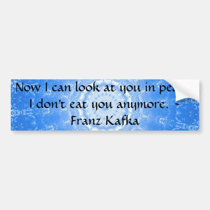 vegan compassion inspirational quote bumper sticker zazzle
