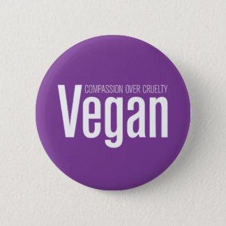 Vegan: Compassion Over Cruelty Button