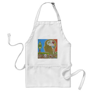 vegan connection eye adult apron
