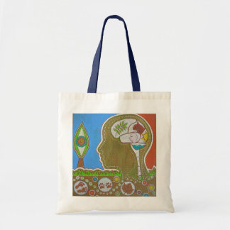 Vegan connection eye tote bag