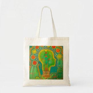 Vegan connection lamp tote bag